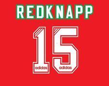 No 15 Redknapp Liverpool 1993-1995 Home Football Nameset for Shirt LFC