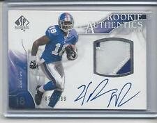 HAKEEM NICKS 2009 SP AUTHENTIC RPA 2 COLOR NUMBER PATCH AUTO RC #D 854/999