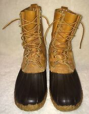 Mens LL Bean Vintage Hunting Duck Boots Shoes US 10 M Maine USA Leather Work