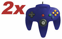 2 x Nintendo 64 CONTROLLER BLUE  N64 *OLD SKOOL*