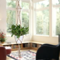Macrame Plant Hanger Flowerpot Holder Gardenpot Lifting Rope Home Decoration