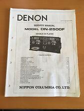 DENON DN-2500F CD Changer Service Manual - Factory Original
