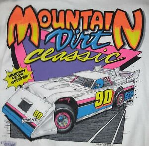 NEW!  Vintage 1990- Mountain View Classic - Large T-shirt  dirt late model