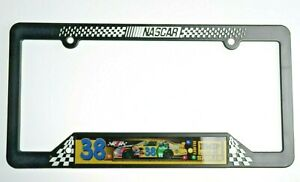 Elliott Sadler 38 Black NASCAR Plastic License Plate Frame