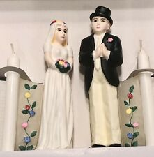 Bride and Groom Candles Wedding Cake Toppers Oddity Vintage New In Box