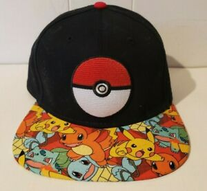 Pokemon Baseball Cap - Pokeball - Official Nintendo Snapback - 2017 - Excellent!