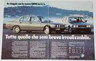 Advert Pubblicità 1981 BMW 518 520i 525i 528i SERIE 5 E28
