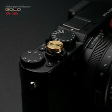 GARIZ metal camera Sticker Type Soft Button shutter release - Gold Sony a7 fit