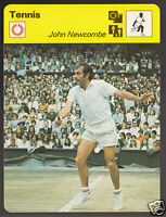 JOHN NEWCOMBE Australia Tennis Player Photo 1979 SPORTSCASTER CARD 48-15A