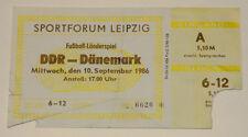 OLD TICKET * East Germany DDR - Denmark in Leipzig