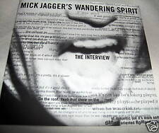 MICK JAGGER (rolling stones)-WANDERING SPIRIT THE INTERVIEW 1993 CD