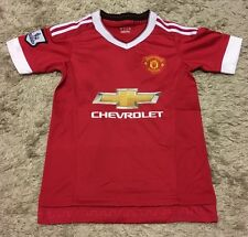 Manchester United Jersey And Shorts Kids Set Youth #7 Memphis Red Chevrolet