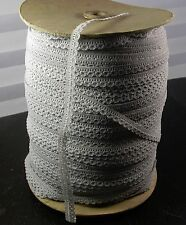 """Closeout Roll 3/8"""" Lace Gray 408 Yard Roll (NOS)"""