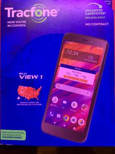 Tracfone Blu View 1, 16GB Black - Prepaid Smartphone