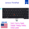 US Layout Non-Backlit Laptop Keyboard for Lenovo ThinkPad T431 T431s T440 T440E