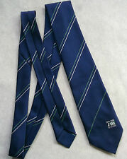 CORPORATE COMPANY TIE VINTAGE 1980s 1963-1988 CELEBRATING 25 YEARS NAVY GREEN