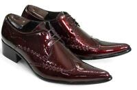 Chic Mens Brogue Pointed Toe Formal Business Leather Lace up Wedding Pumps Shoes