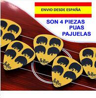 PUAS GUITARRAS BAJOS, MANDOLINA, THE BEATLES, ROCK, METAL, LAUD, BANJO, PICK 4PZ