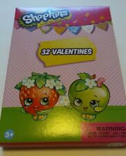 New~Valentines Day Cards (Box of 32) Shopkins 8 Super Sweet Designs  Free S/H