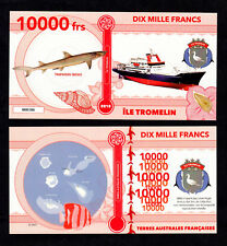 ★★ ILE TROMELIN ● TAAF ● BILLET POLYMER 10000 FRANCS ★ COLONIE FRANCAISE