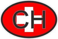 Adesivo adesivi sticker codice auto moto svizzera swiss nazioni ovale bandiera