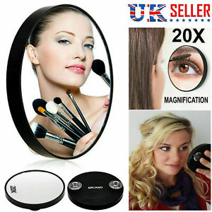 20x Make Up Cosmetic Mirror Vanity Magnifying Bathroom Shaving Suction Mirrors