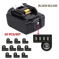 Li-ion Battery Capacity LED Key Sticker Label BL1830 BL1430 For Makita 14.4V 18V