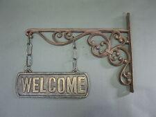 maciza Metal Cartel Para Puerta Welcome (Bienvenidos) 37cm x 25cm