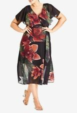 CITY CHIC XS-14 TROPICAL FLORAL MAXI DRESS (BNWOTs ) RRP $139.95 **FREE POST**