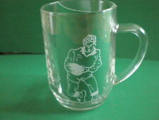Personalised Freehand Engraved Pint Beer Glass Tankard Sports Rugby + Name FREE