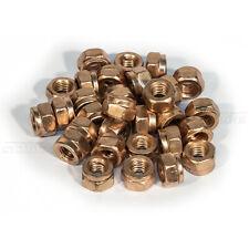 M8-SW12 Schlitzmutter Auspuff Mutter selbstsichernd Kupfer Abgasanlage 100 Stück