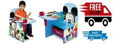 Home Room Kids Boy Girl Toy Chair Desk Storage Bin Disney Mickey Mouse Design