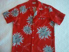 Vintage Pacifica Asian Influenced Chrysanthemums Hawaiian~Aloha Shirt~Nice~Look