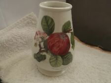 PORTMEIRION FOOTED, SHAPED POMONA VASE SHOWING THE HOARY MORNING APPLE