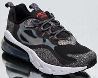 Nike Air Max 270 React GS Older Kids' Black Light Smoke Grey Athletic Sneakers