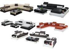 Sofá Conjunto de Muebles para Salón XXL la Esquina G8002 Lujo Cuero Diseño
