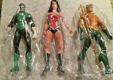 "Green Lantern, Wonder Woman, Aquaman dc comics action figures 7"" loose"
