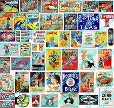 N Scale Vintage Household Aussie Brand Signs Posters - Model Railway - NHS1