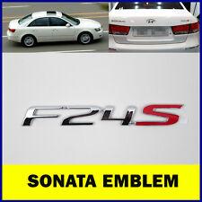 Hyundai Sonata NF F24S Trunk Genuine Emblem Logo Korea Parts Chrome Silver OEM