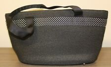 Talbots Tote Handbag w/White Polka Dot Trim  Black