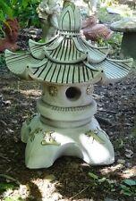 lanterne japonaise en pierre reconstituée ,double toit,51 cm
