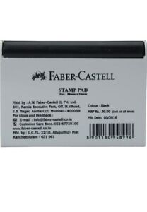 Faber-Castell Stamp Pad Ink Pad for fingerprints  and stamping (88mm*54mm)