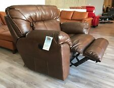 Catnapper Nolan Extra Wide Valentino Leather Touch Chaise Power Lay-Out Recliner
