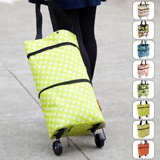 Foldaway 2 Wheels Shopping Shopper Grocery Trolley Luggage Carrier Bag Usa