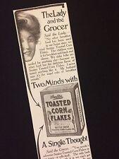 1906 Sanitas Toasted Corn Flakes Ad Cereal Magazine Advertisement Kelloggs