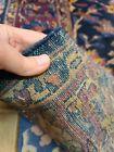 Antique handwoven rug size 5'x10' traditional Lilihan design dark blue