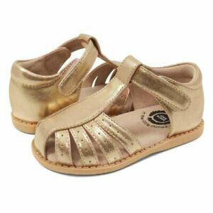 NIB LIVIE & LUCA Shoes Sandals Paz Gold Metallic 9 10 11 12 13