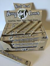 1X Box of SKUNK BRAND HEMP KING SIZE CONES~4 Pre Rolled Cones Ready to Fill