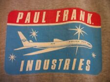 Paul Frank Industries Plane Logo Paul Frank is Your Friend Graphic T-Shirt Small