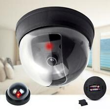 Dummy Fake Surveillance Security Dome Camera Flashing Red LED Light Sticker TH